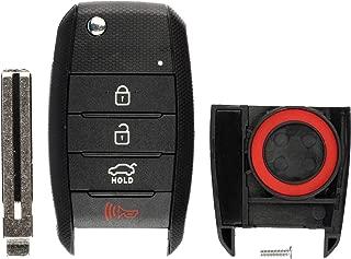 KeylessOption Keyless Entry Remote Flip Key Fob Shell Case Cover Button Pad for Kia Optima Rio Soul Sportage