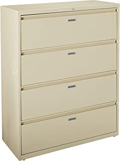 Lorell 4-Drawer Lateral File, 42 by 18-5/8 by 52-1/2-Inch, Putty