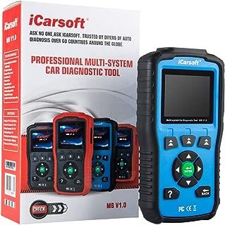 iCarsoft MB V1.0 OBD2 Diagnostic Tool for Mercedes-Benz/Sprinter/Smart ABS SRS with Oil Reset New i980 (Blue)