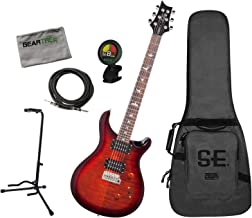 PRS Custom 24 Fire Red Burst Electric Guitar w/Cable, Stand, Cloth, Tuner