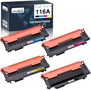OfficeWorld Toner Cartridge Replacement for HP 116A W2060A W2061A W2062A W2063A, for HP Color Laser MFP 179fnw MFP 178nw 1...