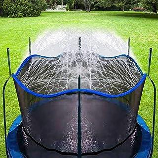 Bobor Trampoline Sprinkler for Kids, Outdoor Trampoline Backyard Water Park Sprinkler Fun Summer Outdoor Water Toys for Boys Girls. (Blue, 39ft)