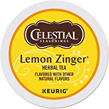 Celestial Seasonings Lemon Zinger Herbal Tea, Single-Serve Keurig K-Cup Pods, 24 Count
