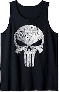 Marvel Punisher Skull Symbol Distressed Débardeur