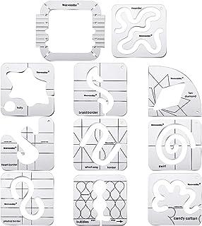 1PCS Quilting Creations Schablonen F/ür Maschinen- Und Handsteppungen Mit Quilters Guide Quilting Templates Set Lineal Template Kit Neues Lineal Template Sampler Set
