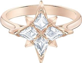 Swarovski Motif Symbolic Star Bague, Métal Doré Rose