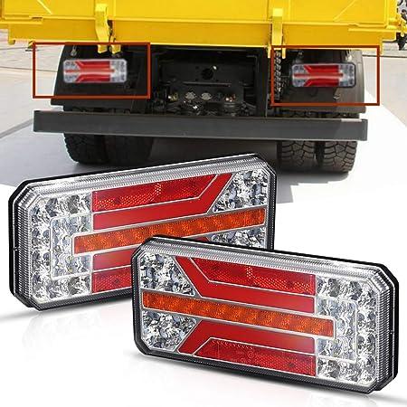 freno di coda Luce di retromarcia Segnale di svolta Rimorchio per camion per caravan Pickup Truck Segnale di svolta posteriore Luce 2X 10-30V LED Luci per rimorchio di coda