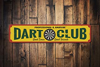 mengliangpu8190 Dart Club Sign Custom Metal Professional & Amature Dart Board Gift Personalized Game Room Man Cave Decor Quality Aluminum