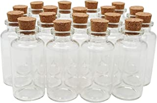 Axe Sickle 36PCS 20ml Cork Stoppers Glass Bottles DIY Decoration Mini Glass Bottles Favors Small Message Glass Bottle Jars Corks Small Glass Wishing Bottles for Wedding Party Favors.