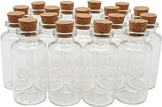 Axe Sickle 36PCS 20ml Cork Stoppers Glass Bottles DIY Decoration Mini Glass Bottles Favors Small Message Glass Bottle Jars Corks Small Glass Wishing Bottles for Wedding Party Favors.