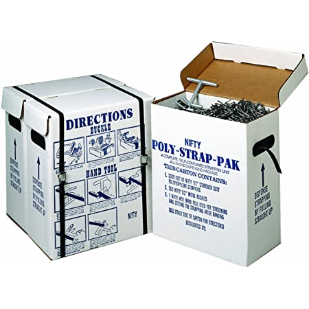 White 1//2 Tape Logic TLPS12PLBUCK Plastic Poly Strapping Buckles Pack of 1000