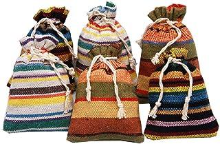 6 sacchettini 2020 (14x10cm) di cotone lino multicolor, ciascuno riempito con 30 g di pura lavanda (180g)