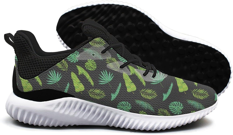 Varied Tropical Palm Leaves Leisure Fashion Running shoes Woman Cool Climbing Mini