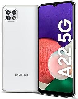 هاتف سامسونج جالكسي A22 الذكي- ثنائي شرائح الاتصال - بذاكرة 128 جيجا وذاكرة رام 6 جيجا يدعم الجيل الخامس لون ابيض(نسخة الم...