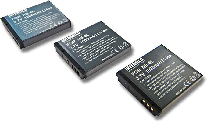 Intensilo 2x Li Ion Akku 1000mah Für Kamera Camcorder Elektronik