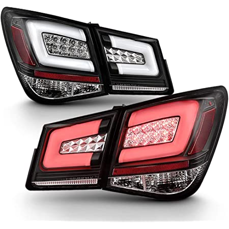 Tail Light Assemblies For 11-15 Chevy Cruze J300 Black Bezel LED ...