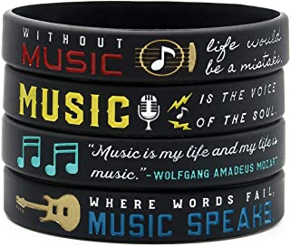 Inkstone Music Inspirational Bracelets with Quotes and Sayings About Music - Jewelry Accessories Gifts for Musicians Music Teachers Students