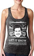 Let It Snow - Famous Drug Lord Ugly Christmas Ladies Racerback Tank Top