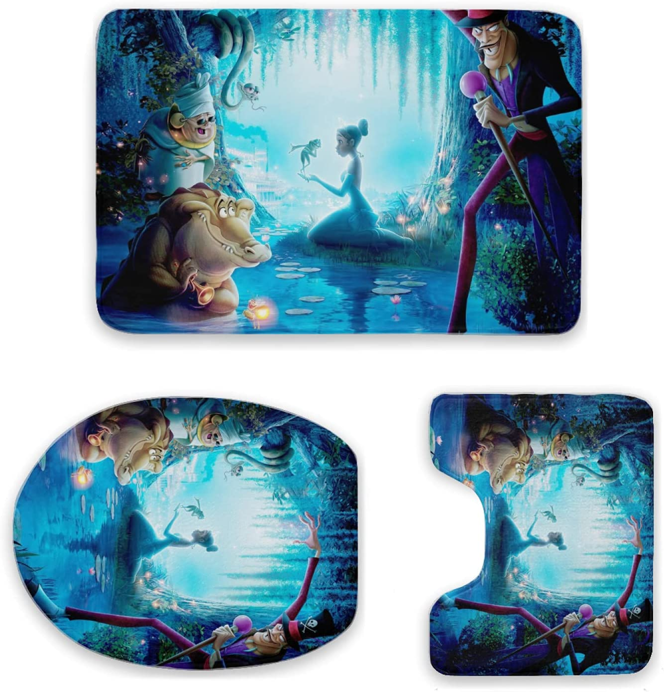 Beatricemiller The Princess and Frog 3 Piece A surprise Ranking TOP20 price is realized Set Mats Bath