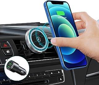 15W Magnetic Car Wireless Charger for iPhone 13/13 Pro/13 Pro Max/13 Mini/ 12/12 Pro/ 12 Pro Max/12 Mini, Auto-Alignment A...