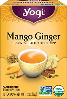 Yogi Tea - Mango Ginger (6 Pack) - Supports Healthy Digestion - 96 Tea Bags
