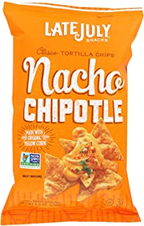 Late July Organic Nacho Chipotle Tortilla Chips, 5.5 Ounce - 12 per case.