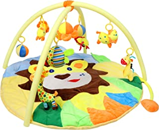 Bammax Activity Gym Baby Kids Play Mat Soft Non-Toxic Newborn Carpet with 9 Hanging Cartoon Educational Toys