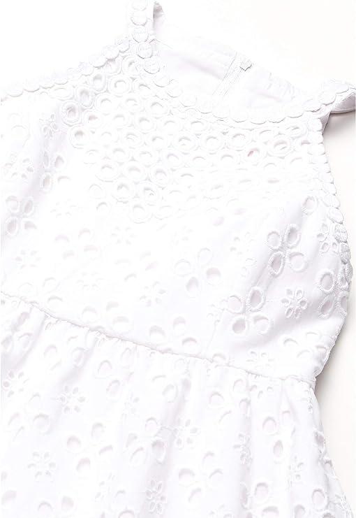Resort White Floral Cross Eyelet