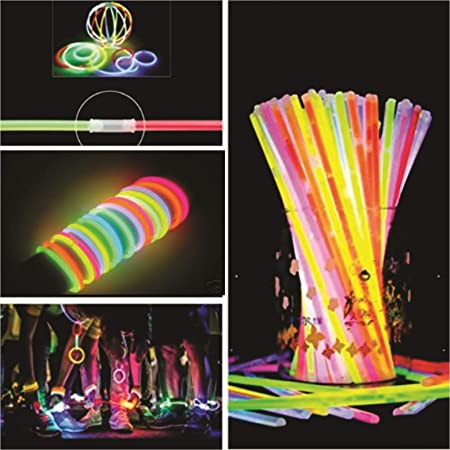 Chocozone Light up Toys Glow Sticks Mixed Colors Party Favors Supplies for Kids Birthdays (Glow Bracelets) (Pack of 50)