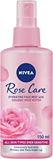 NIVEA Rose Care Face Hydrating Mist Organic Rose Water All Skin Types, 150 ml