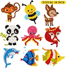 5D DIY 18 PCS Diamond Painting Stickers Kits for Kids and Adult Beginners, Stick Paint with Diamonds by Numbers Easy to DIY ,Cute Animals, Sea World