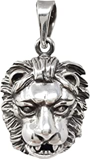 TreasureBay Men's 925 Sterling Silver Lion Pendant