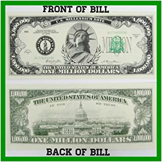 Unbranded (50) ONE Million Dollar Novelty Paper Fake Money Bills - Quality & Looks Real Novelty