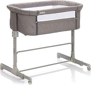 Fillikid Beistellbett Relax 2in1| Babybett, Zustellbett inkl Transporttasche | Kinderreisebett und Freistehendes Kinderbett von 0 kg bis 9 kg | Stubenwagen mit Rollen & weicher Matratze