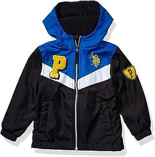 US Polo Association Boys' Toddler Nylon Varsity Jacket