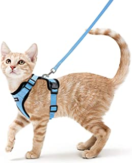 rabbitgoo Cat Harness and Leash for Walking, Escape Proof Soft Adjustable Vest Harnesses for Cats, Easy Control Reflective...