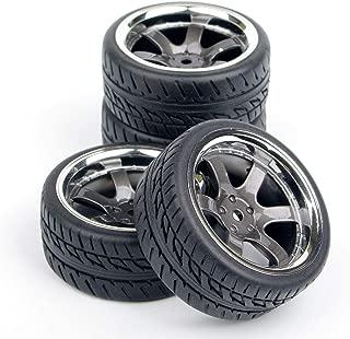 FidgetGear RC Wheels & Tires Set for Tamiya tt01 tt02 tt01e m06 m05 m03 Hpi Rs4 Sprint E10
