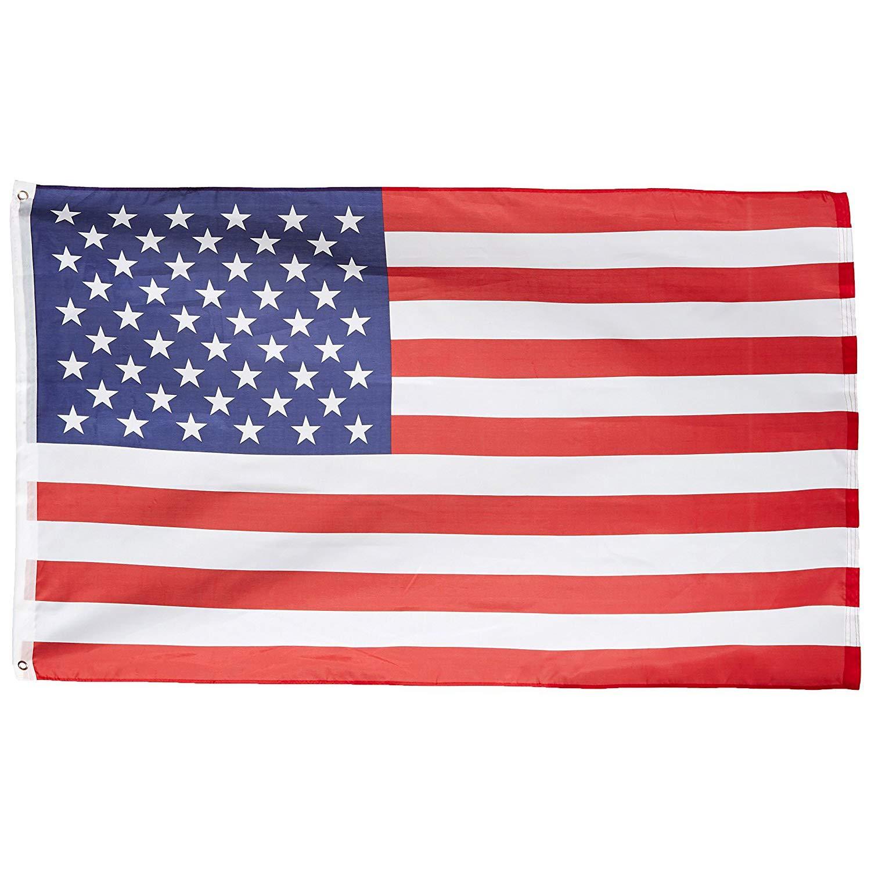 ADATECH Bandera EEUU Estados Unidos 90x150cm bandera americana poliester adapta a mastil: Amazon.es: Jardín