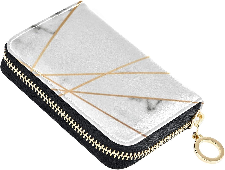 OTVEE Marble Max 57% OFF Texture Golden Geometric Credit Card Over item handling ☆ RFID Wallet M