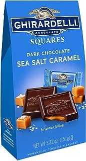 Ghirardelli Dark and Caramel Sea Salt, Chocolate Squares, 5.32 oz, 4 Count