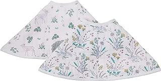 aden + anais Burpy 围嘴,* 纯棉平纹细布,柔软吸水,4层,多用途饱嗝布和围嘴,57.15 厘米 X 27.94 厘米,2件装 Forest Fantasy