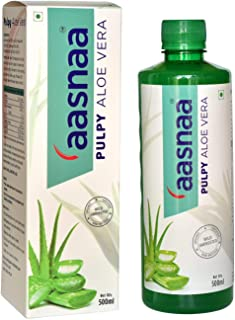 Aasnaa Aloe Vera Juice With Pulp 500ML | | Wild Harvest | Certified Organic Raw Material | All Round Health | Rejuvenates ...