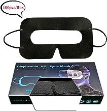 YooQoo 通用一次性虚拟现实面罩面罩,适用于 VR、VR 卫生面罩、VR 眼罩、100 个/盒 8 * 4.5inch 黑色