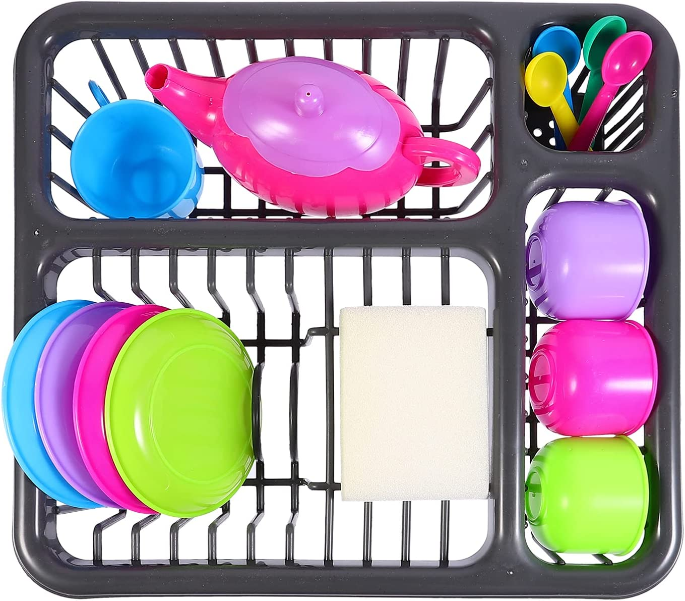 jojofuny Kitchen Sink Ranking TOP18 Bombing free shipping Toy 1 Set 15pcs Tableware Plastic Models K