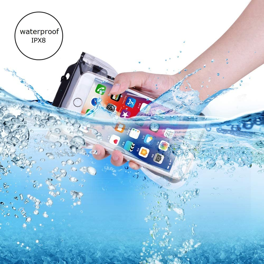 SEGMART 2019 Universal Floating Waterproof Phone Pouch, Cellphone Dry Bag Pouch for iPhone X, 8/7/7 Plus/6S/6/6S Plus, Samsung Galaxy S9/S9 Plus/S8/S8 Plus/Note 8 6 5 4, Google/HTC/LG/Sony/Moto