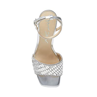 Blue by Betsey Johnson Britt Heeled Sandal (Silver) Women