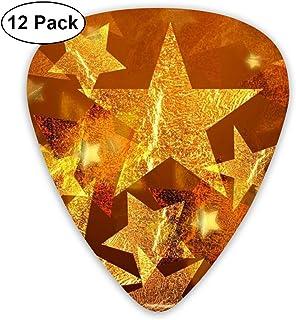 Púas para Guitarra 351 Shape Púas de guitarra clásicas Merry Christmas Stars Plectrums Instrumento Standard Bass 12 Pack