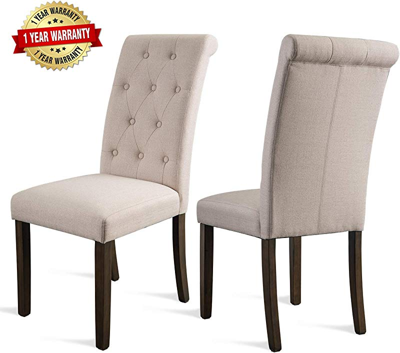 Merax Dining Chairs Dining Room Chairs Parsons Chair Kitchen Chairs Set Of 2 For Home Kitchen Living Room