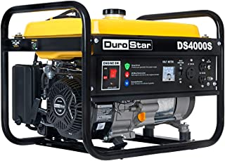 DuroStar DS4000S Gas Powered Portable Generator- 4000 Watt-Recoil Start-Camping & RV Ready, 50 State Approved