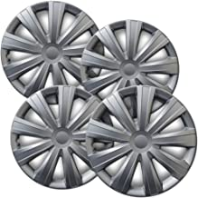 OxGord Hub-caps for 04-07 Ford Focus (Pack of 4) Wheel Covers 15 inch Snap On Silver